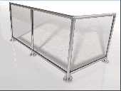 Glasleisten-Geländer