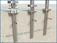 Bodenanker Edelstahl Pfosten Adapter zum einbetonieren im Boden Beton Betonanker V2A