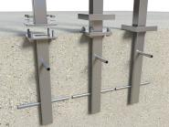 Bodenanker Edelstahl VIERKANT Pfosten Adapter zum einbetonieren im Boden Beton Betonanker