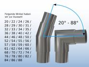 Edelstahl Steckfitting Winkel Bogen V2A angefertigt in vielen Winkeln
