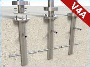 Bodenanker Edelstahl Pfosten Adapter zum einbetonieren im Boden Beton Betonanker V4A