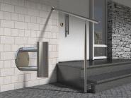 Geländer Treppe Edelstahl Handlauf Bausatz Halterung seitlich Wange Eingang