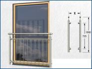 Französischer Balkon senkrecht