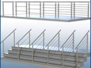 Geländer Boden GP06 I-FORM Edelstahl Balkon und Treppe Bausatz
