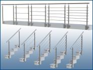 Geländer Wange GP06 I-FORM Edelstahl Balkon und Treppe