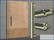 Tür Stoßgriff Türgriff GERADE Ø 33mm bis Länge 200 cm Edelstahl angefertigt