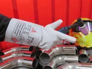 WIG Schweisser Leder Handschuh mit Stulpe Standard schweißen TOP Preis - Leistung