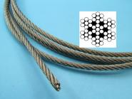 RESTPOSTEN Edelstahl Drahtseil 4 mm - 14 Meter Restmenge Seil 7x7 V4A Rest