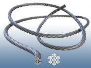 Drahtseil 7x7 V4A Edelstahl Seil - Durchmesser 2, 3, 4, 5, 6, 8 mm und Länge wählbar.