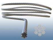 Drahtseil 7x19 V4A Edelstahl Seil weich und flexibel V4A Salz und Meerwasser