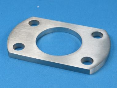 Ankerplatte / Fuß 96 x 60 für Rohr Ø 42,4 mm Edelstahl Fußplatte Pfosten
