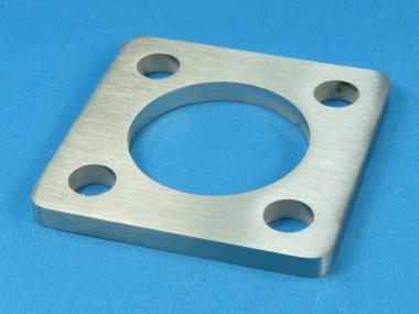 Ankerplatte / Fuß 70 x 70 für Rohr Ø 42,4 mm Edelstahl Fußplatte Pfosten