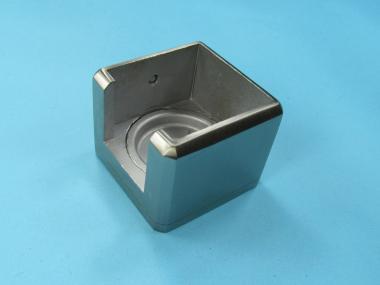Vierkant Edelstahl Glasleisten Wand Anschluss für Rohr 30x30 Adapter Übergang für Vierkantrohr 30x30