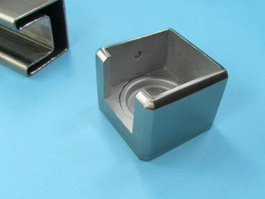 Vierkant Edelstahl Glasleisten Profil Rohr Wandanschluß Adapter Übergang