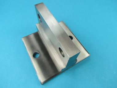 Wandanker Pfostenhalter für Flachstahl 50 mm WA = 28 mm Edelstahl