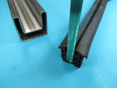 Glasleistenrohr Dichtung Doppelnut 48,3 Glas von 8-13mm