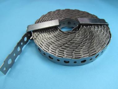 Edelstahl Lochband 16 x 0,9 mm Montageband 10 Meter Rolle Spule Mauerverbinder
