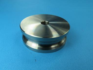 Seil Rolle Metallrolle aus V2A Edelstahl Ø 50 mm für Seil bis max. 5 mm