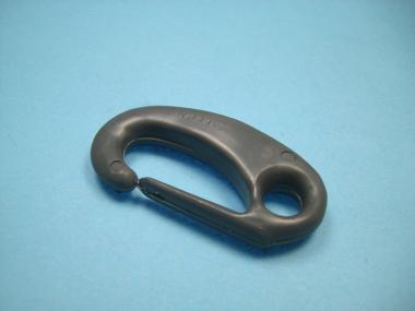 Schnapphaken Nylonhaken antrazit Karabinerhaken für 6 + 8 mm Seil