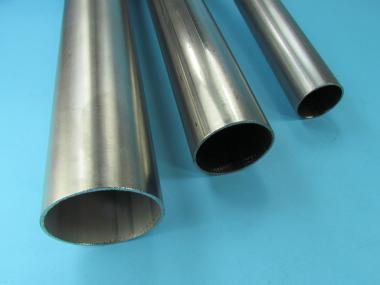 Korn 240 L/änge 500 mm Abmessungen /Ø 26,9mm x 2,0mm V2A Edelstahl Rohr rund Oberfl/äche geschliffen