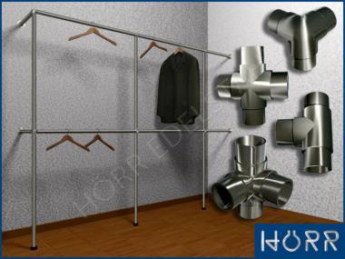 Garderobenstange System f. Kleiderschrank begehbar 3,5 lfm