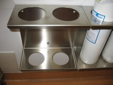Edelstahl Doppel Halterung für 2 Liter Gasflaschen