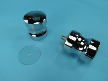 Bad Glastür Knopf Griff 2 Standard Duschtürknopf glanzverchromt