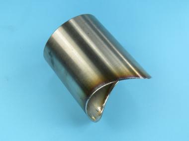 Favorit Edelstahl Auspuff Rohr Ausfräsung für T-Adapter als T-Stück NS49