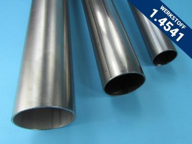 SONDERPOSTEN Rundrohr 60,3 x 2 mm Edelstahl 1.4541 / 1 Meter V2A Auspuff