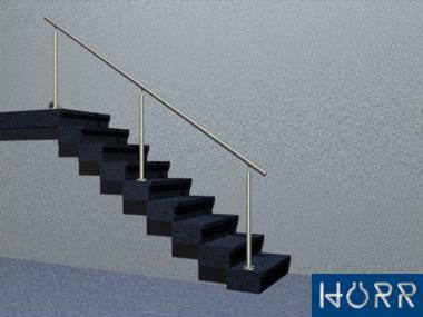 gel nder treppe mit edelstahl handlauf f llung ohne f llung befestigung bodenmontage inkl. Black Bedroom Furniture Sets. Home Design Ideas