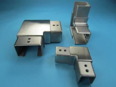 Glasleistenrohr Winkel HORIZONTAL für Glasleisten Glasprofil Rohr steckbar