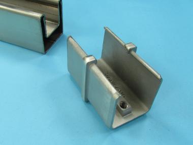 Vierkant Edelstahl Glasleisten Profil Rohr VERBINDER steckbar Adapter