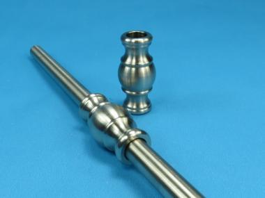 Rundstab Verbinder Zierteil Nr.2  für Rundstahl / Rohr 12mm Edelstahl