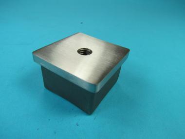 Stopfen Verschluß Deckel Einsteck-Kappe für Vierkantrohr 30x30 x 2mm + M8 Gewinde