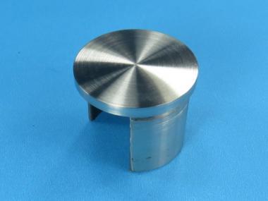 Glasleistenrohr Stopfen / Endkappe für Rohr 42,4 + 48,3 Edelstahl Glaseinfassung