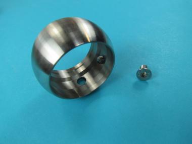 Kugelring für Edelstahl Rohr V2A Handlauf Aufnahme Ring 26,9 33,7 42,4 48,3