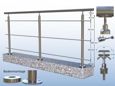 gel nder edelstahl v2a boden 3 x rundstahl bis 3 meter 3. Black Bedroom Furniture Sets. Home Design Ideas
