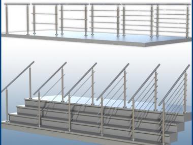 Gelander Boden Gp06 I Form Edelstahl Balkon Und Treppe Bausatz