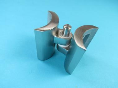 Tür Torband für Rundrohr Rohr 42,4 mm Edelstahl Scharnier