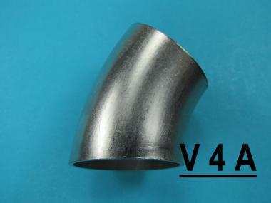 Bogen Schweißbogen 35x1.5 45° matt Edelstahl Rohrbogen zum anschweißen pulsair Ø 35 x 1,5 mm 45° matt V4A !