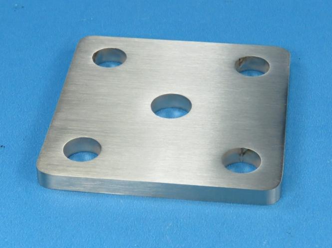 Ankerplatte / Fuß 70 x 70 für Rohr Ø 12 mm Edelstahl Fußplatte Pfosten