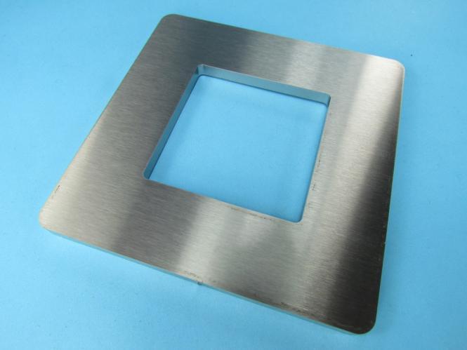 Ankerplatte Blech 118x118 x 6 mm Edelstahl Fußplatte Pfosten ML = 60x60
