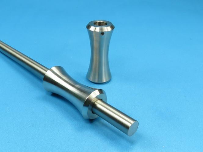 Rundstab Verbinder Zierteil Nr.1  für Rundstahl / Rohr 12mm Edelstahl
