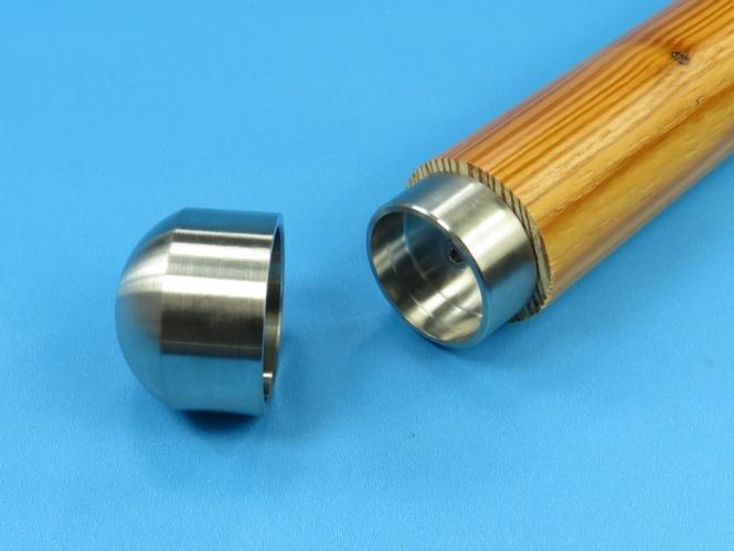 steckfitting verbindungsteil adapter o r ndel holz handlauf aus edelstahl. Black Bedroom Furniture Sets. Home Design Ideas