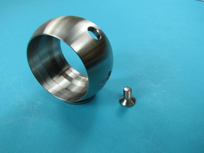 Kugelring für Rohr Ø 42,4 V2A Handlauf Aufnahme Ring Edelstahl für Rohr Ø 42,4 mm