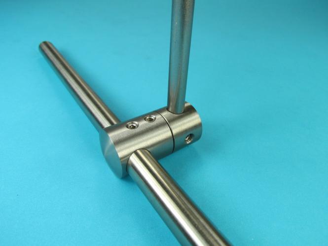 stabclip v2a edelstahl kreuz verbinder adapter f r rundstahl und rohr. Black Bedroom Furniture Sets. Home Design Ideas