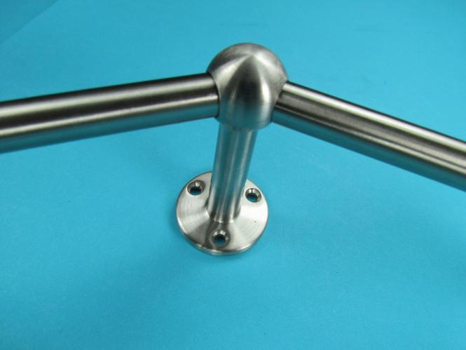 Relinghalter Stabhalter KURZ 45° Eckstück 10mm Edelstahl Reling Halter