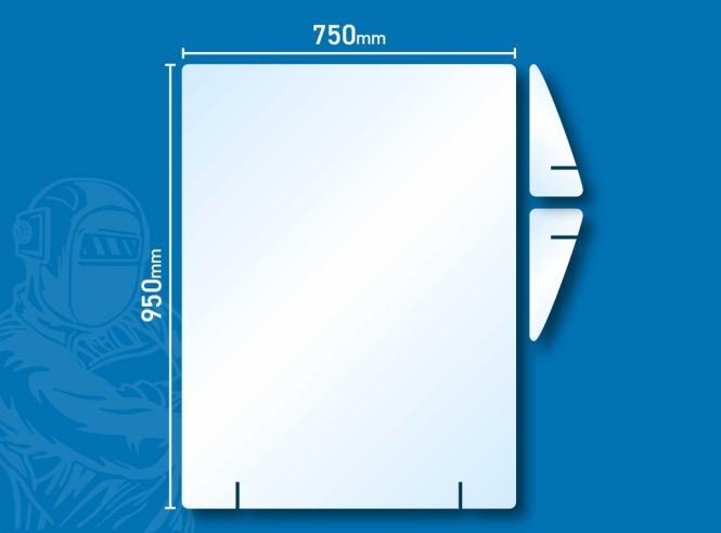 Hygiene Schutzwand - Aufsteller 95 x 75 cm - OHNE Ausgabe Aufsteller 95 x 75 cm   OHNE Ausgabe