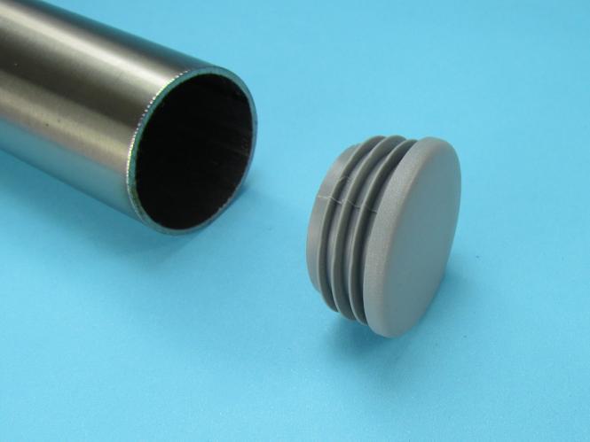 Rundstopfen 18 mm Grau Kunststoff Lamellenstopfen Abdeckkappe 1 St/ück