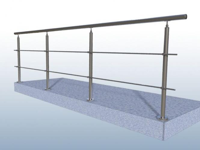 edelstahlgel nder va bausatz innen au en balkon treppe 2 x. Black Bedroom Furniture Sets. Home Design Ideas